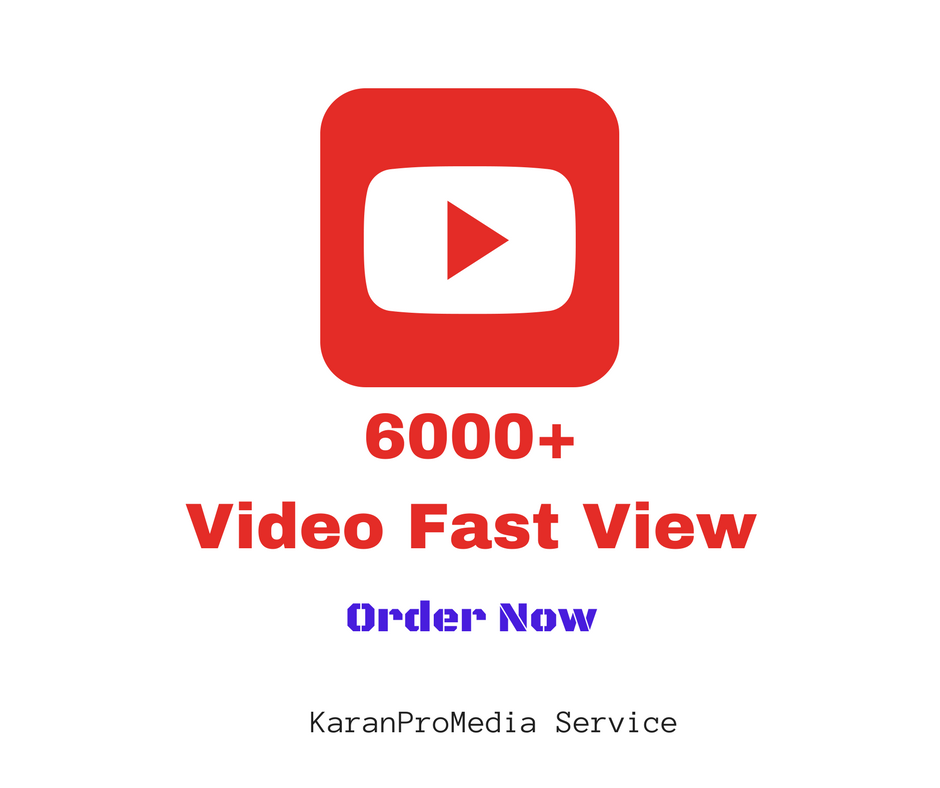 Provide Instant High Quality 6000+ YT Video Views