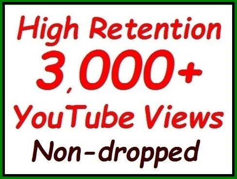2000 to 2500+ YouTube Vie ws fully safe video ranking, non-dropped guaranteed