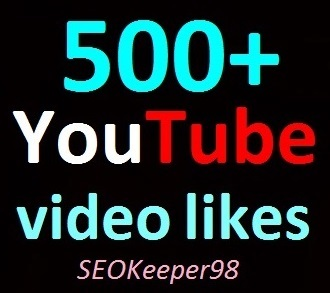400 to 500+ YouTube Likes Limited Offer, Real and Super fast delivery ever