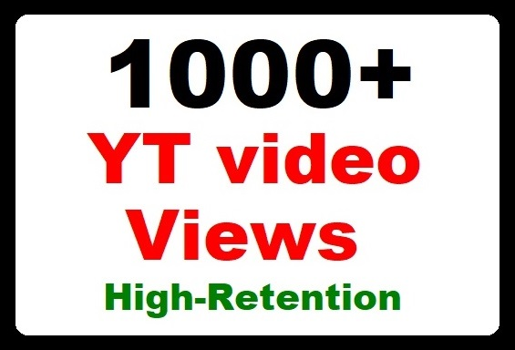 1000+ YouTube Video Promotion Good Watch time and Safe Ranking just