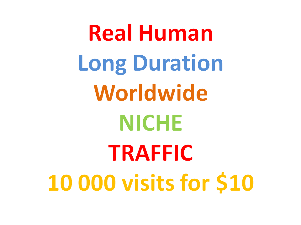 Long Duration Worldwide Niche TRAFFIC 10000 visits monthly