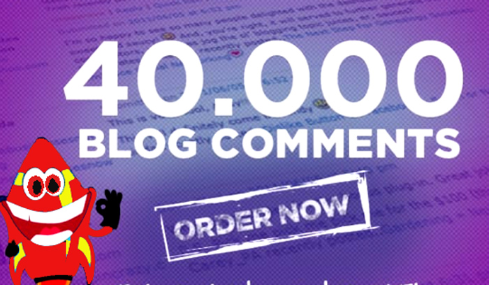 40,000 SEO Blog Comments Backlinks, Rank HIGH on Google by Link building