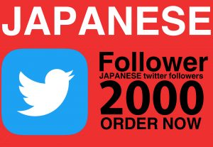 Add 2000 Japanese T-witter followers only