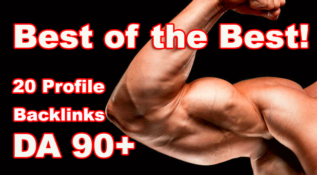20 High DA 90+ Profile Backlinks - Best of the Best