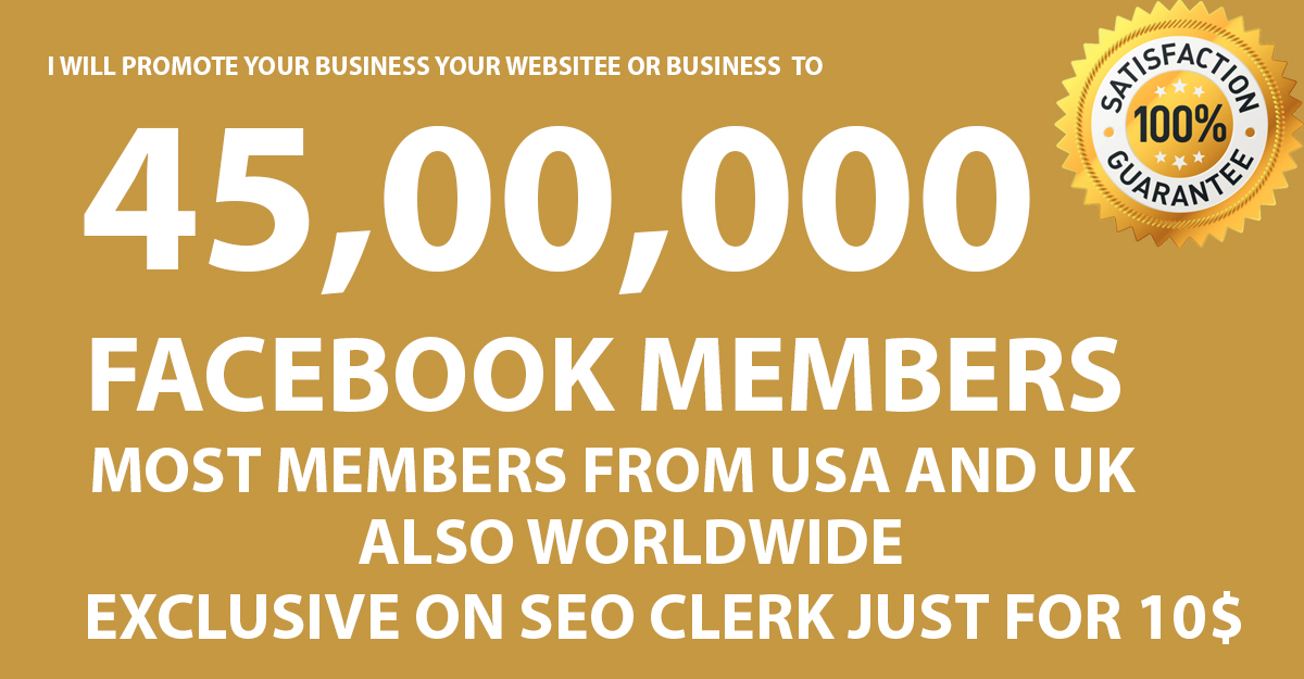 Promote Your Website Or Business 45, 00,000+ Audience