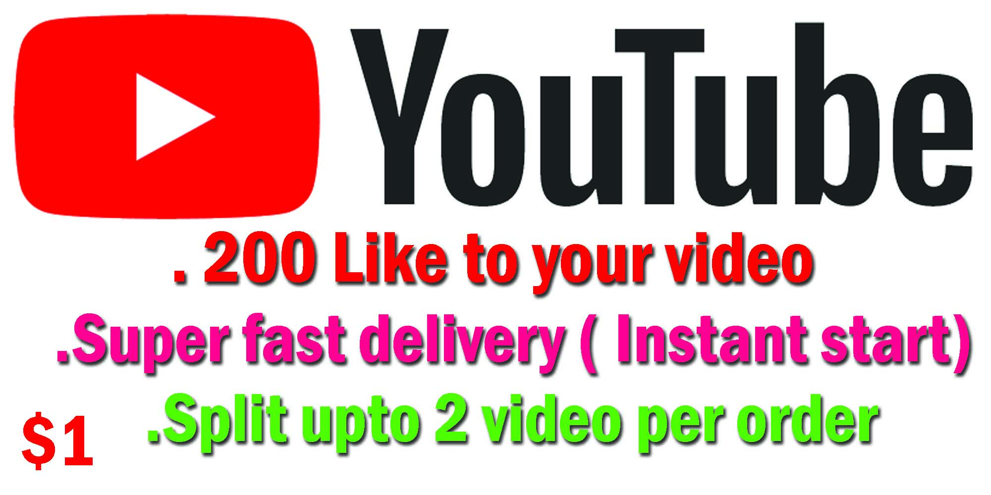 Start Instant 200 +Like OR 5+Comment and 5+subscribers Super Fast delivery