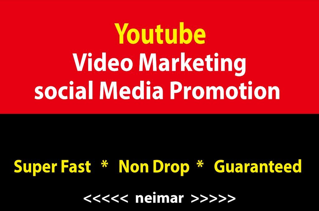 INSTANT YouTube Video Marketing Social Media High Quality Promotion