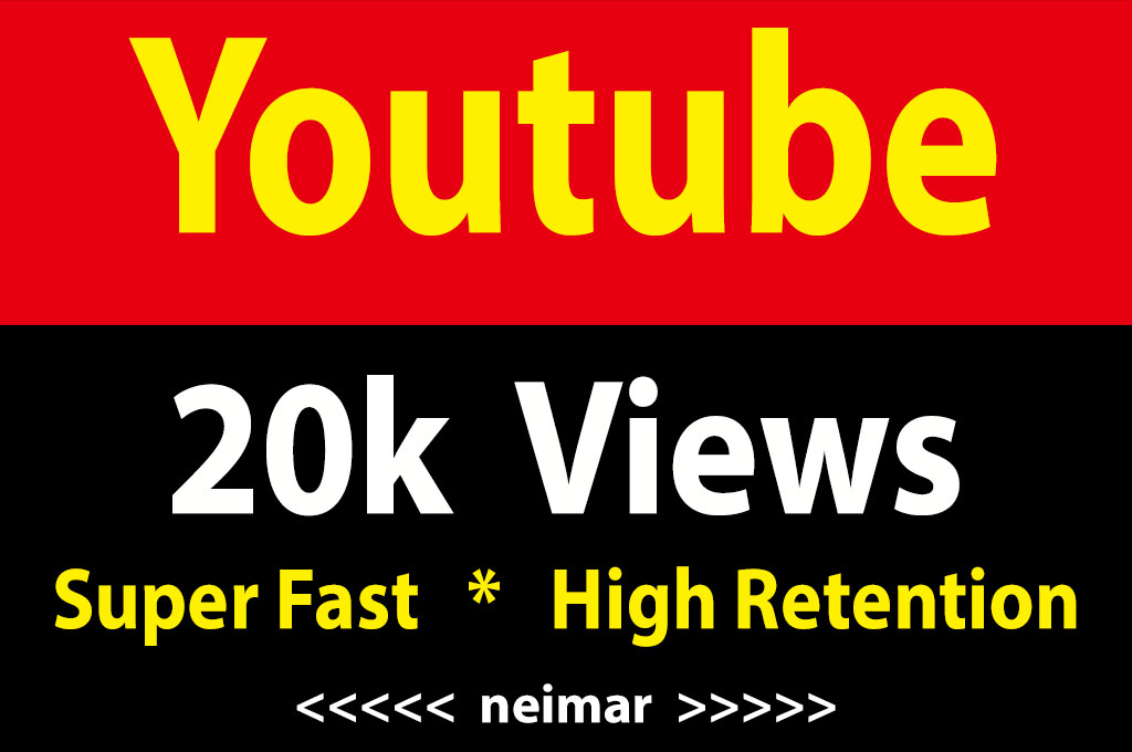 instant 20,000 / 20k Youtube Vieews Fully Safe Lifetime Guarantee