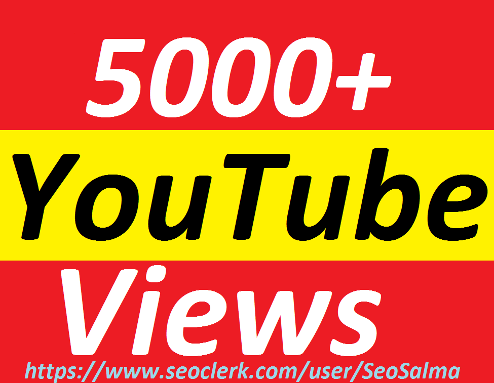 Add 4000 To 5000+Non Drops YouTube Vie ws 12-24 Hours in complete   OR  Add 200+Non Drops YouTube Subs cribers