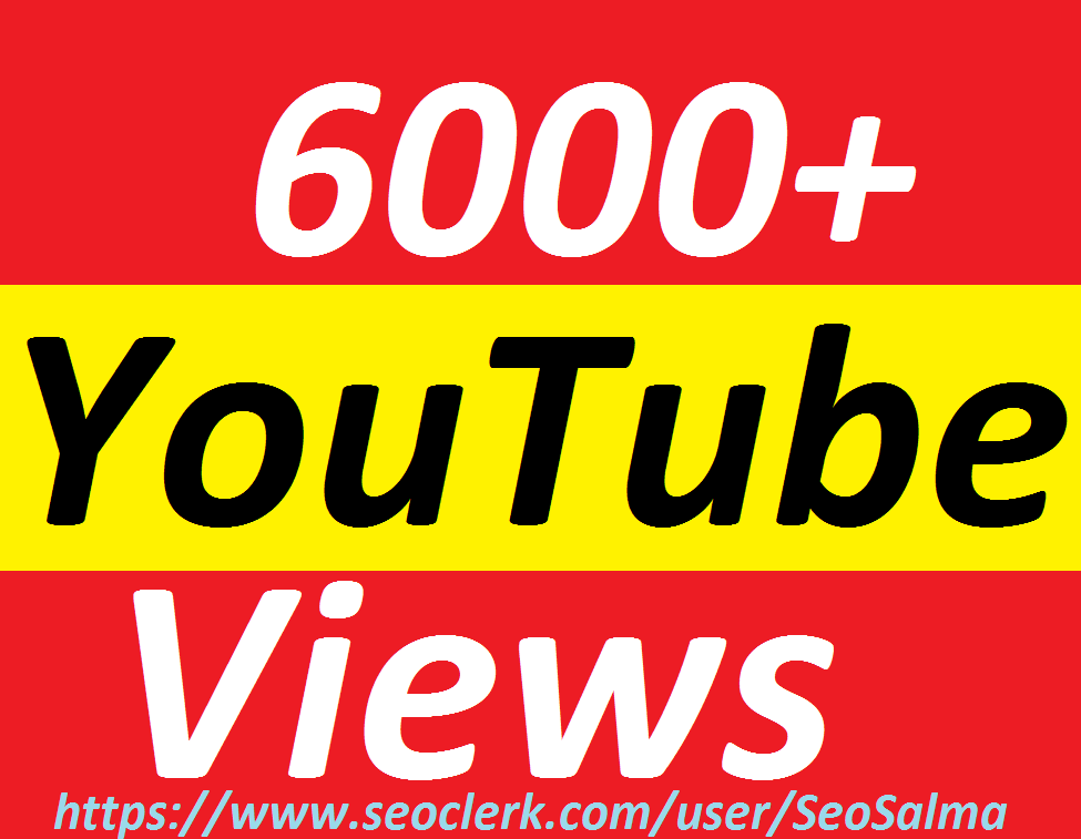 Safe 6000+Real Non Drops YouTube  Promotion