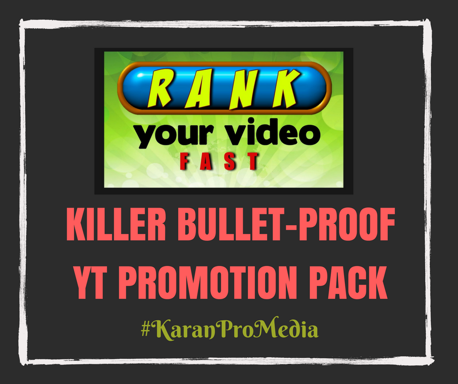 Killer Bullet-Proof YT Promotion Pack