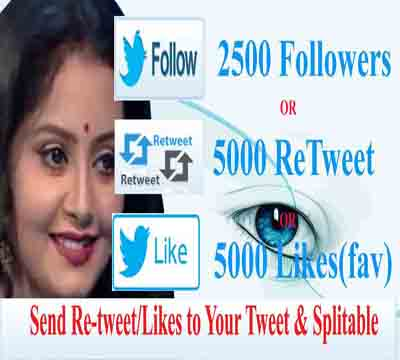 Instant Twitter promotion 5000 Re T weet ,Favorite supper fast 24 hours