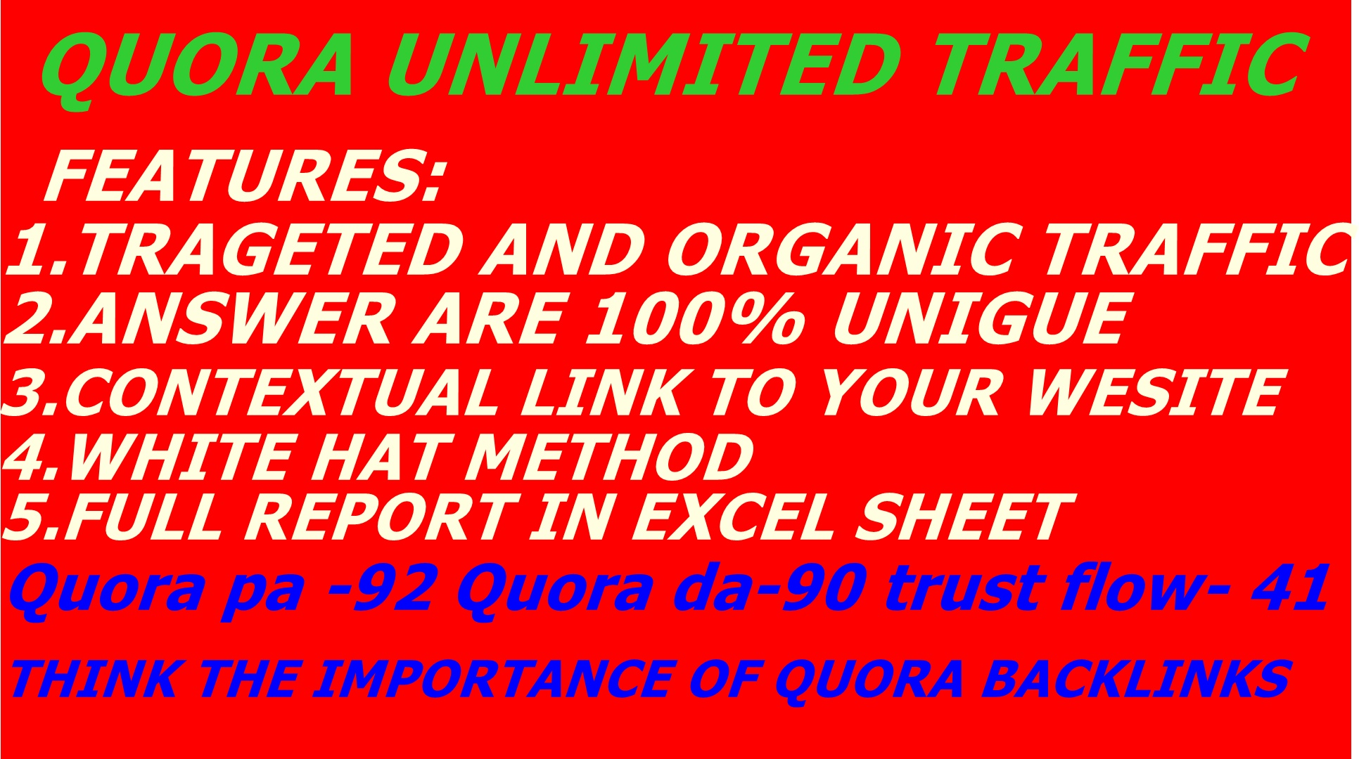 Promote Your Website By Organic Niche Traffic with 15 Quora answer with clickable link
