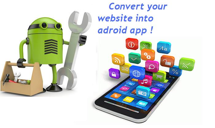 Convert your website into Android APP. Download it as file or by QR code