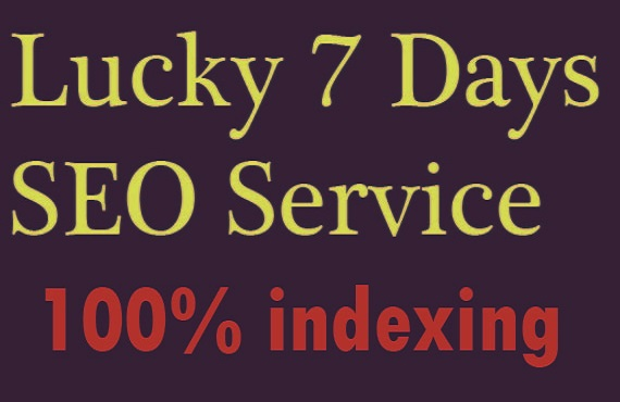 Lucky 7 days SEO Service, Improve your website 100% Rank