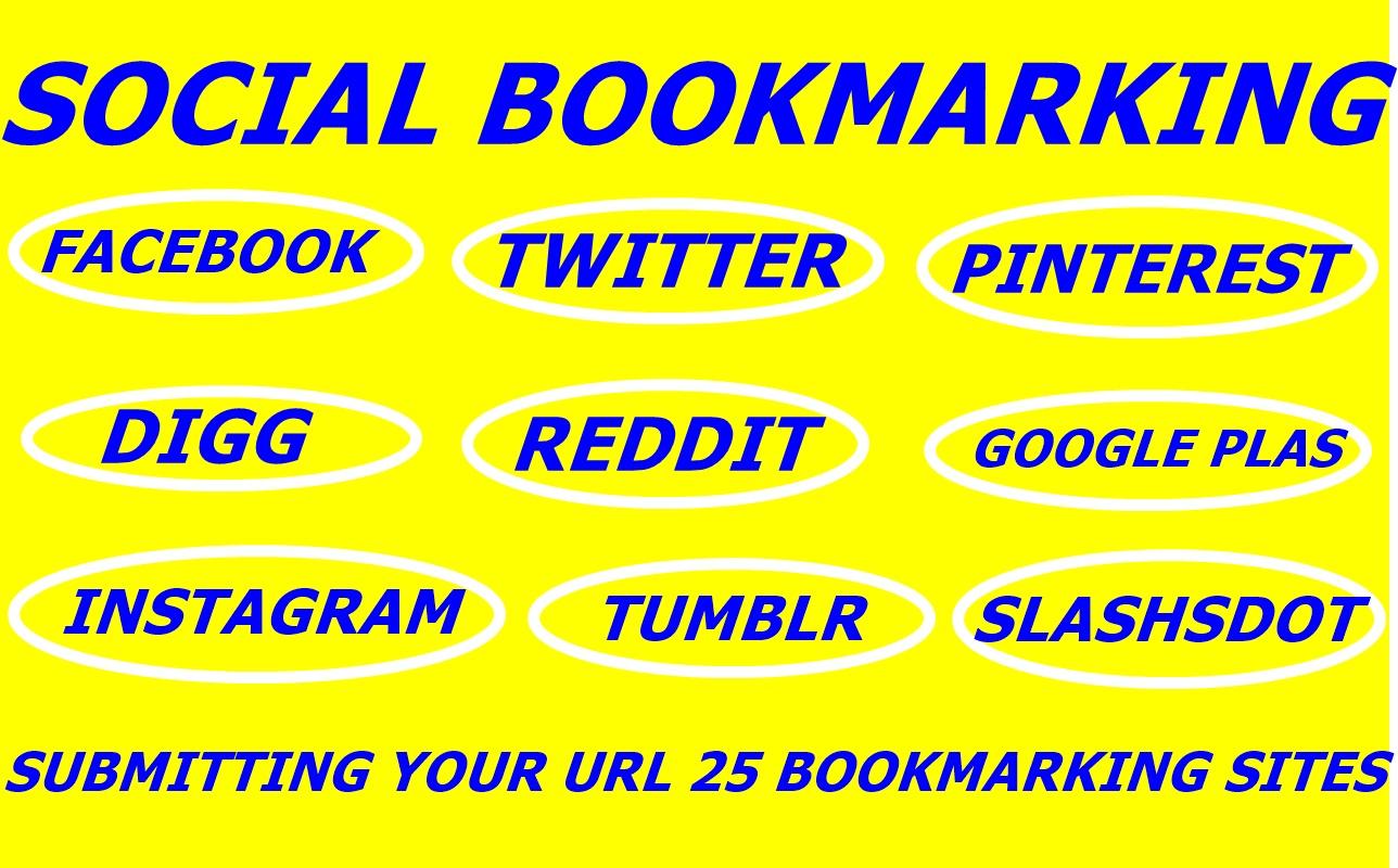 provide Manually create 15  pr 8-10 social bookmarking backlinks