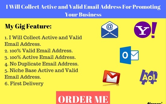 Collect Active And Valid Email Address For Business