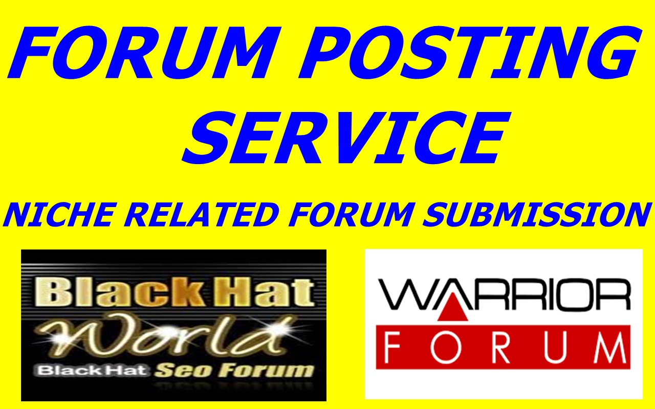 Provide manually create 30 forum  posting service