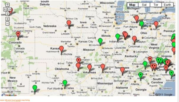 I can Create 100 Point Local Google Map Listing