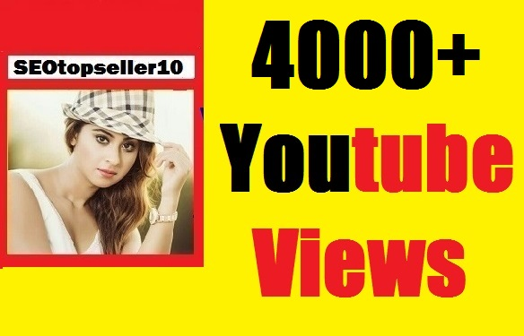 Instant Start 4000+ to 5000 YouTube vi-e-ws  safe,non drop & very fast complete