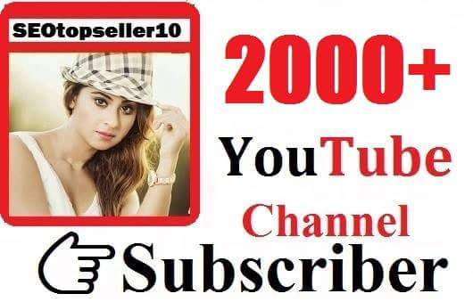 2000+ YouTube subs criber manually, non drop & very fast complete