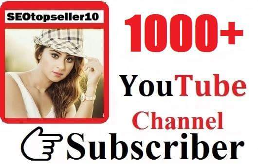 Instant Start 1000+ YouTube subs'criber  safe,non drop & very fast complete