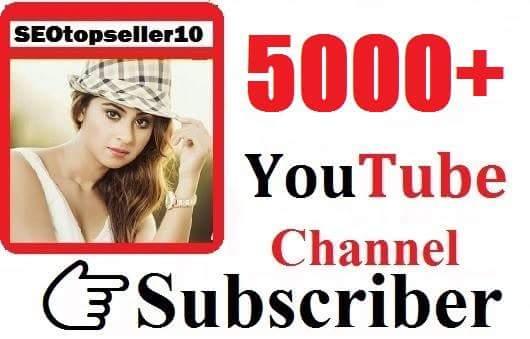 Never Drop, 5000+ Youtube Subs criber manually & very fast  just