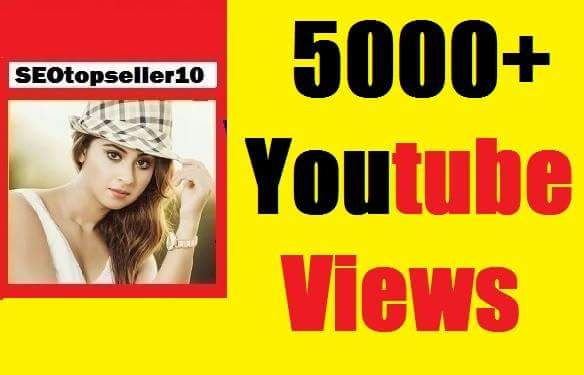 Instant start 5000+ to 7000+ Youtube vie ws non drop very fast just