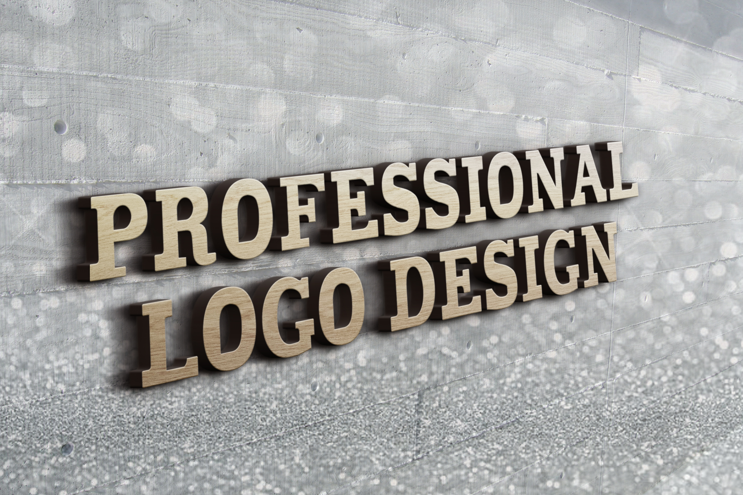 Awesome 3D logo design mockup for your business