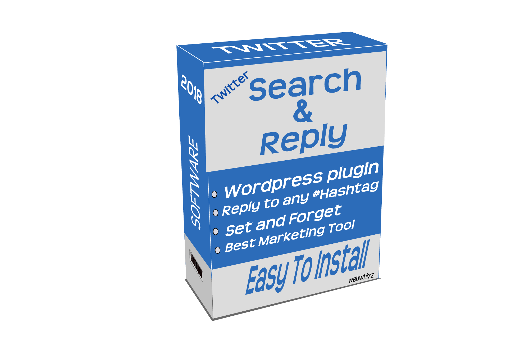 Twitter hashtag search and reply marketing Plugin