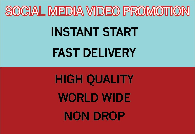 1000000 World Wide Non Drop Video Promotion instant