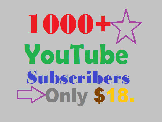 """NEW YEAR OFFER 2018"" for special client's 1000 subs,"