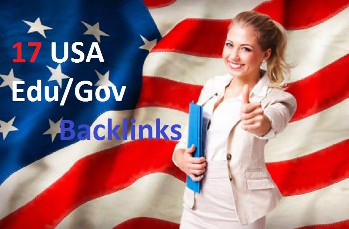 17 US Based. EDU. GOV High Authority Backlinks