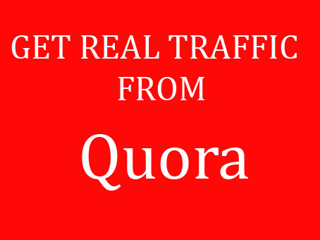 Offer focused on and natural Traffic by 10 quora answer posting