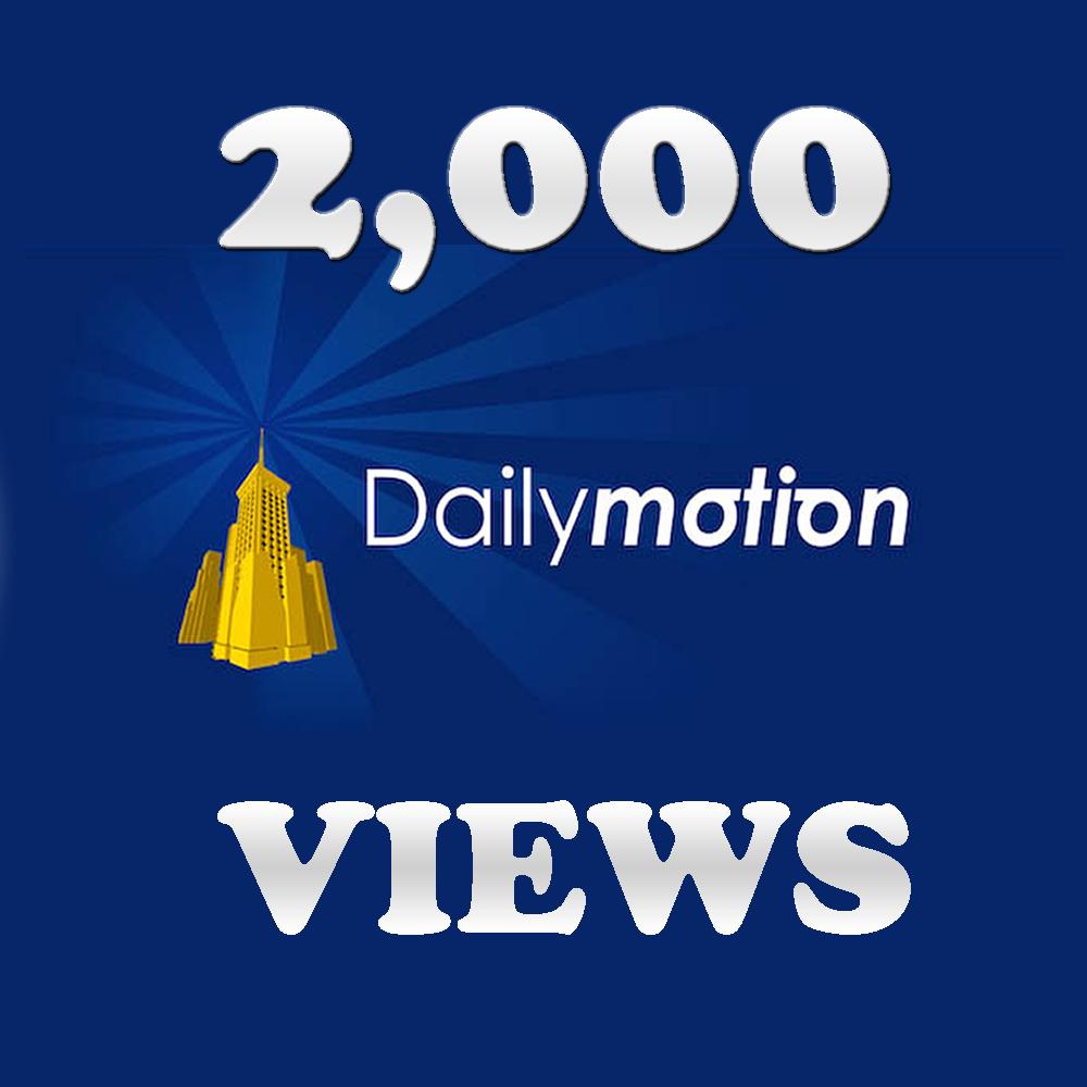 2,000 DailyMotion Views Instant Start