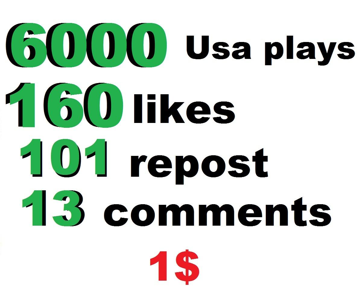 6000 usa soundcloud plays 160 soundcloud likes 101 soundcloud repost soundcloud 16 comments
