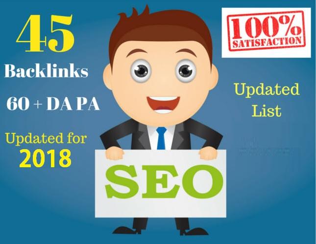 Create 45 Backlinks from High DA-40+ Domains-Skyrocket your Google RANKINGS