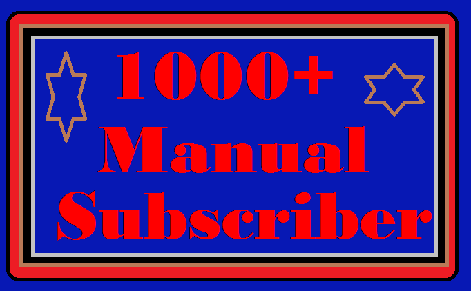 Wonder Full Pack 1000 YouTube Subscribers manually non drop  active channel 1-24 hours order completed