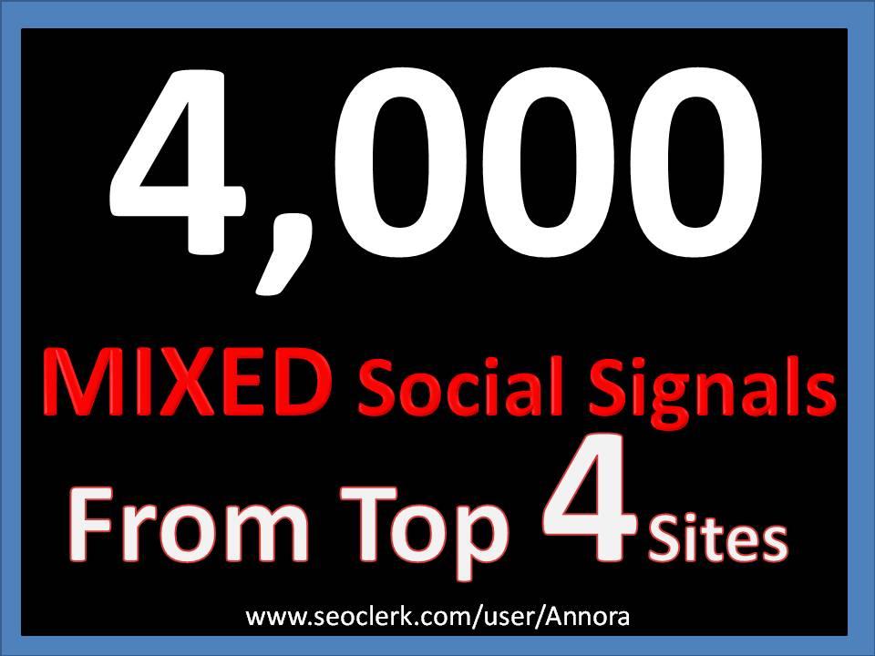 Manual 4000+ TOP 4 Social Media platform Social Signals