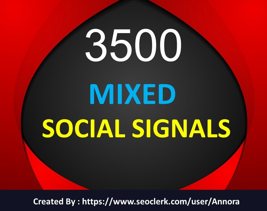 TOP Platform 3500 Social Signals Come From Top 3 Social Media Sites PR9 Social Bookmark
