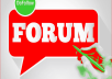 Create unique 30 Forum post with back-link to promote your Website