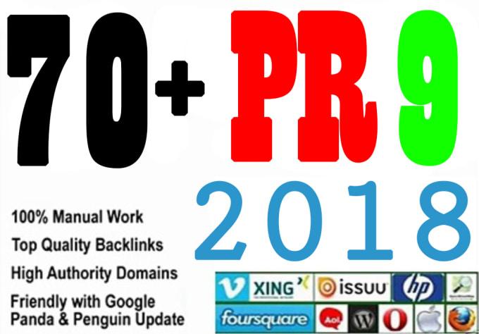 i am give you 70 high quality links pr 10