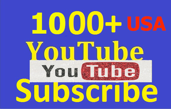 1000+ USA YouTube Subscribers or USA 5000+ View-s or 1000+ Like-s for Improve YouTube Video & SEO Ranking