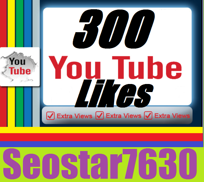 Safe You/Tube 300 Video Likes.s  Or 20+custom Comments only