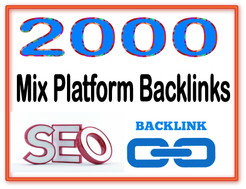 Create you 2000 Mix Platform PR6-8 Backlinks