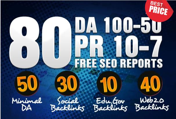Manually Create 80 Domain Authority High Pr Backlinks