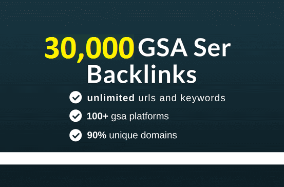 Create 30,000 Gsa Backlinks Using Gsa Ser