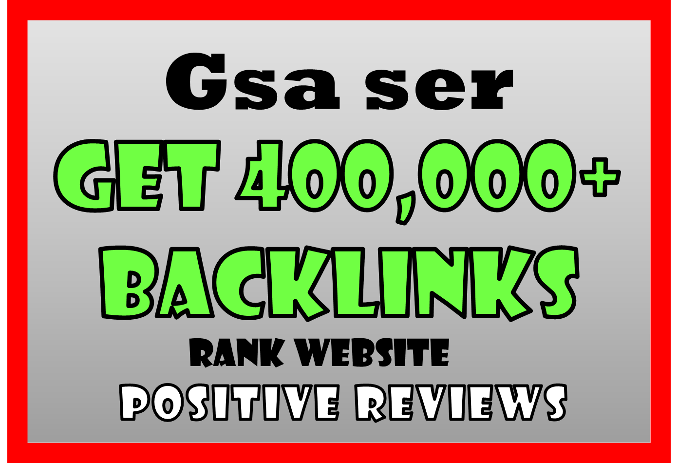 200,000 Gsa BACKLINKS HIGH Authority For SEO Ranking