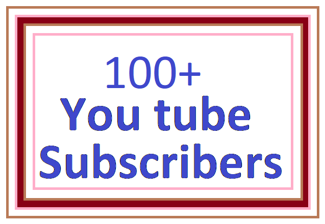 Super offer 100+ YouTube subscribers non drop 1-2 order completed very fast only