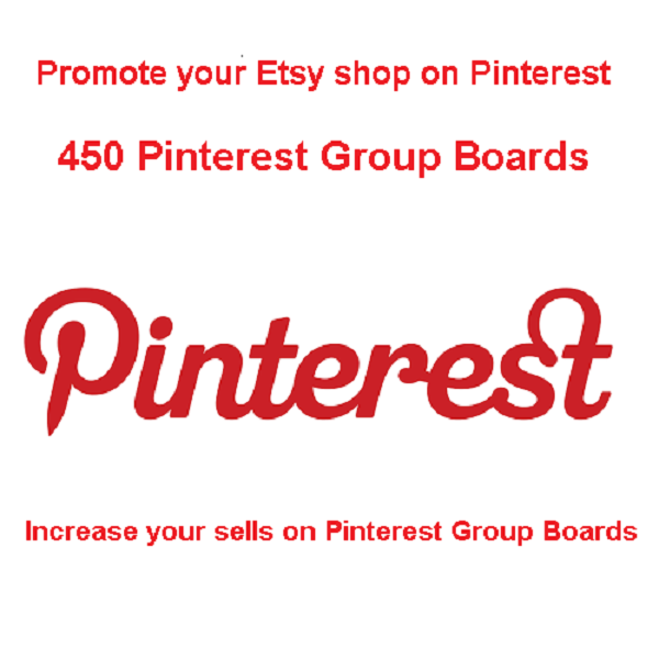 Promote your Etsy shop increase your sells on Pinterest Group Boards
